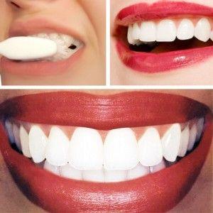 Tip van dr. Oz: kwart kopje zuiveringszout, en het sap van een halve cirtoen met elkaar mengen, aanbrengen met een wattenstaafje. Even laten zitten (niet langer dan een minuut), daarnaar goed je tanden poetsen om de resten te verwijderen.