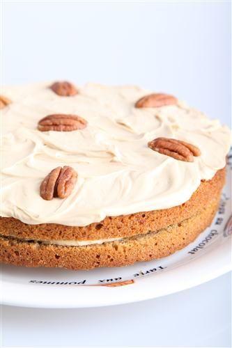 Koffie pecan taart met mascarpone: dubbel mokka!
