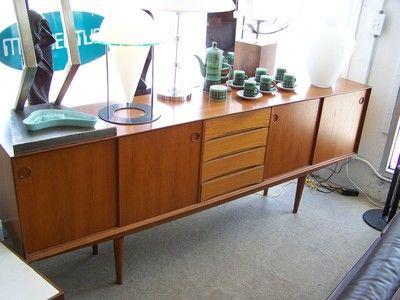 Large Teak Credenza/Sideboard.   50s60s70sliving Fort Lauderdale  Mid Century Modern Furniture Store