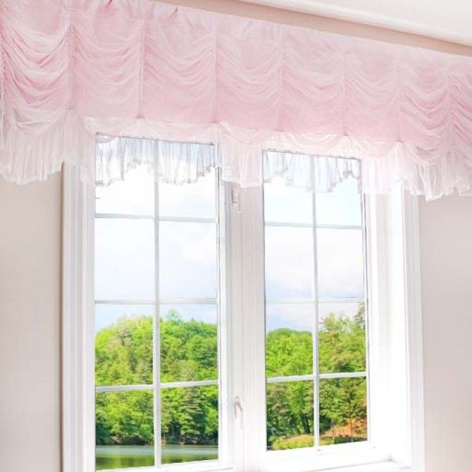 Luxury Ruched Balloon Shabby Chic Curtain Valance