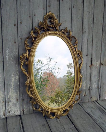 Snow White Mirror Mirror, mirror, on the wall, who's the fairest of them all? Find out looking in this ornate oval mirror ($60).