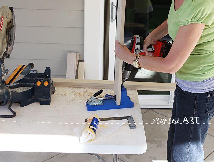 ¿Cómo construir un escritorio moderno blanco con sierra ingletadora y kreg plantilla 1