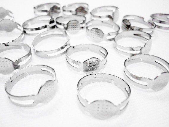 Ring verstelbaar van zilver-, brons of goudkleurig metaal (zelf ringen maken) (sieraden) -Koekiedoo
