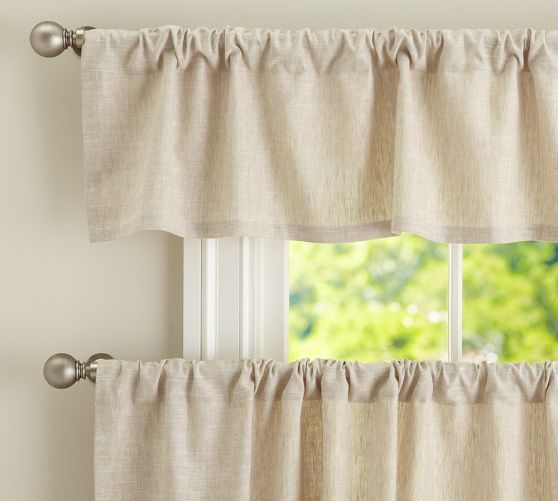 emery linen cafe curtain pottery barn for the kitchen for the home pinterest the o 39 jays. Black Bedroom Furniture Sets. Home Design Ideas