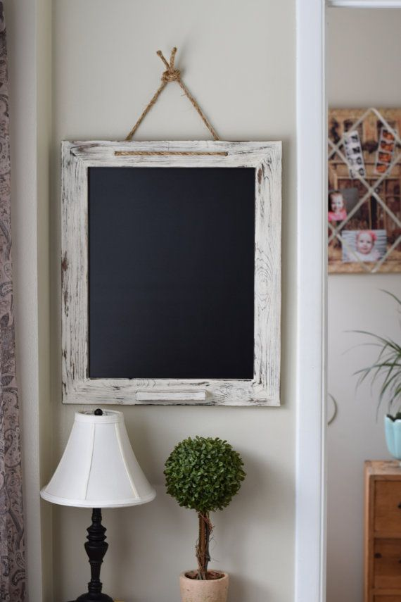 Kitchen Chalkboard perfect for chalk markers! Always erases back to its original condition. Use any chalk marker on it. All in a Shabby Chic style!