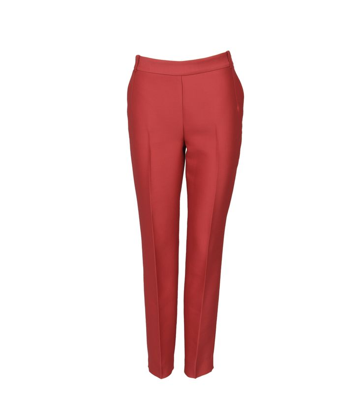 Pantalones tobilleros rojos de lana de Ángel Schlesser