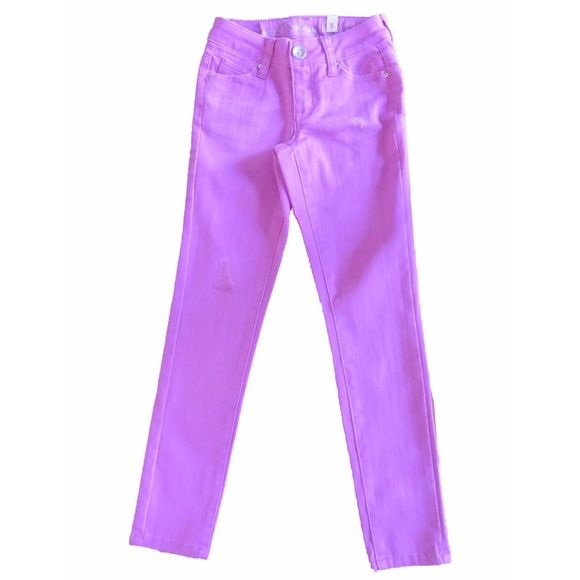 Kids Justice Pants - Size 8 Girls Jeans, Size 8 Slim. Naterial: Cotton and Polyester. Color: Violet . Brand new with tag. Justice Jeans Overalls