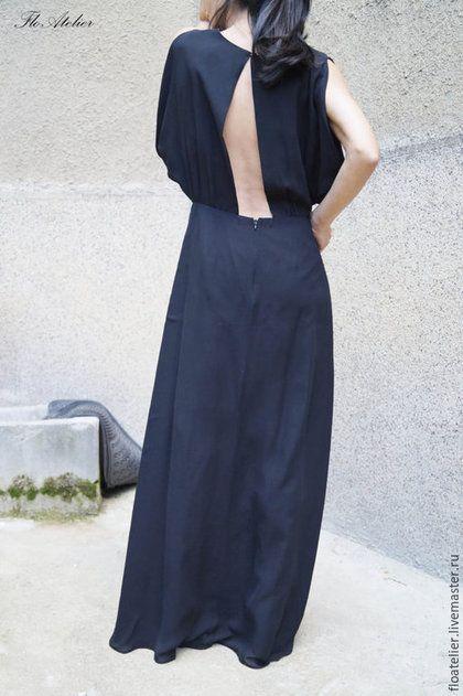 Платья ручной работы. Ярмарка Мастеров - ручная работа. Купить Черное платье / Платье с открытой спиной /F1472. Handmade.