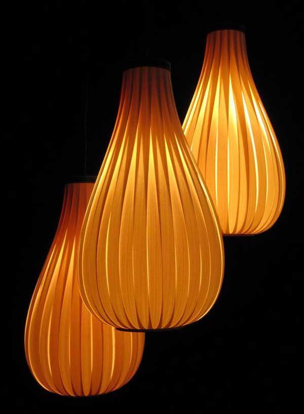Beautiful Unique Lighting In Wood Veneer Built In Belgium Design