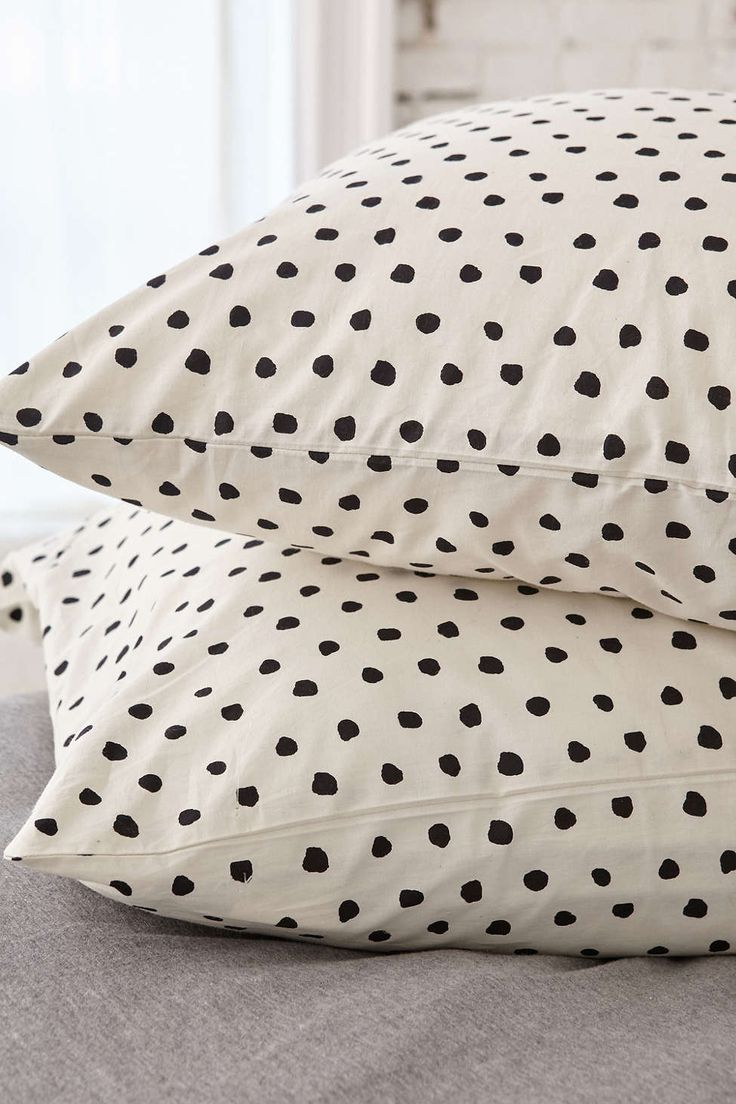 Polka Dot Pillowcases Adorable Polka Dot Pillowcases  Bedrooms  Pinterest  Bedrooms Room And House Inspiration Design
