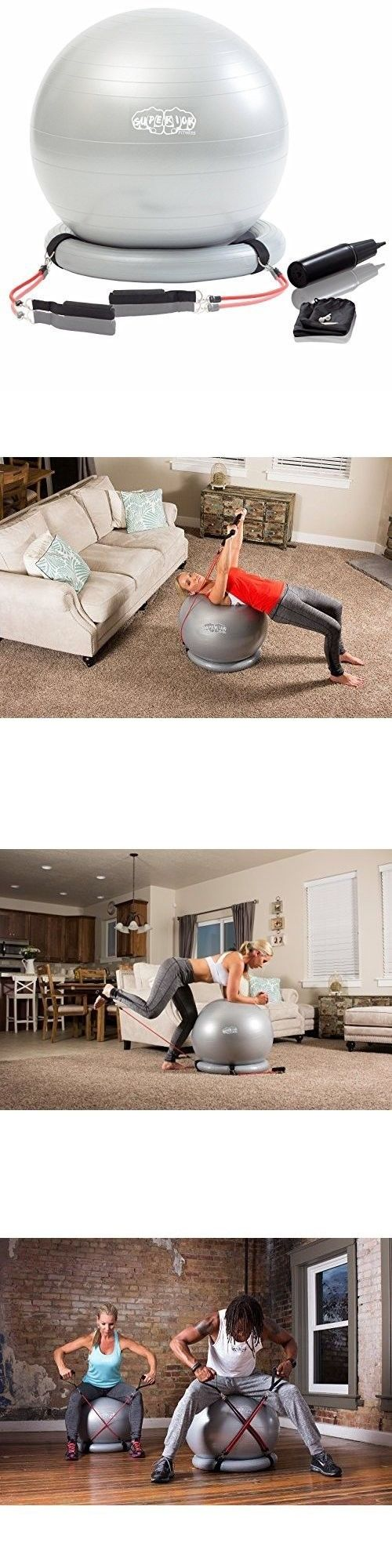Exercise Balls 31390: Fitness Exercise Stability Ball Workout Set Resistance Bands Yoga Core Balance -> BUY IT NOW ONLY: $52.2 on eBay!