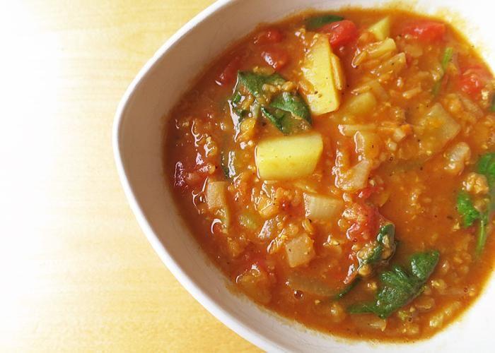 Linsgryta med indiska smaker