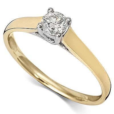 9ct Yellow Gold Diamond Solitaire Ring RD607Y 0.35ct - Coolrocks