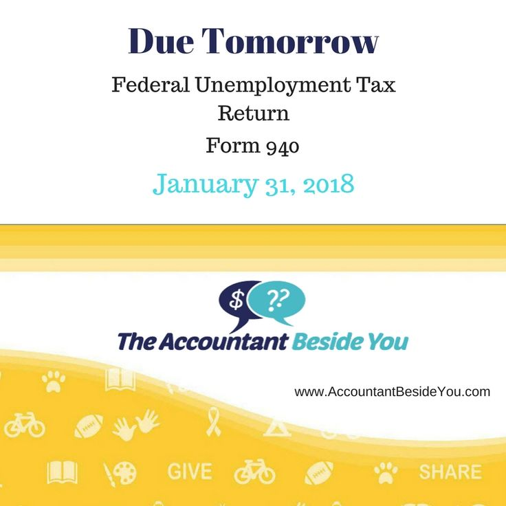 If you pay wages of $1,500 or more to employees in any calendar quarter during 2016 or 2017, you must file Form 940. #nonprofit, #taxes #accountantbesideyou