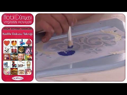 Ahşap Boyama Teknikleri - Kadife Dokusu Tekniği - YouTube