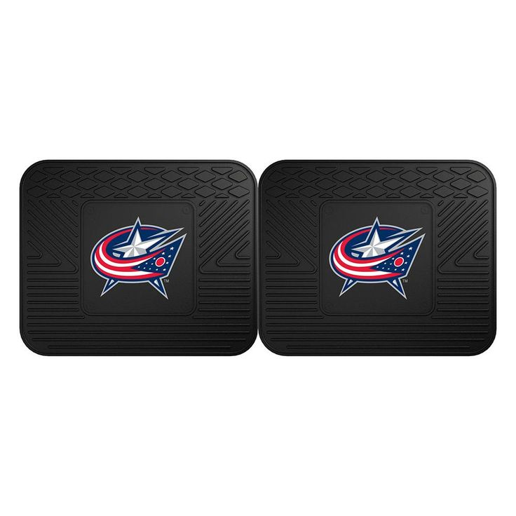 Columbus Blue Jackets NHL Utility Mat (14x17)(2 Pack)  Boast your team colors with backseat utility mats by FANMATS. High quality and durable rubber construction with your favorite team's logo permanently molded in the center. Non-skid backing ensures a rugged and safe product. Due to its versatile design utility mats can be used as automotive rear floor mats for cars, trucks, and SUVs, door mats, or workbench mats. Now comes in a 2 Pack!