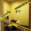 50' Woman With PMS Crime Scene Funny Yellow Caution Barricade Tape Gag - Barricade, Caution, CRIME, Funny, SCENE, TAPE, Woman, Yellow