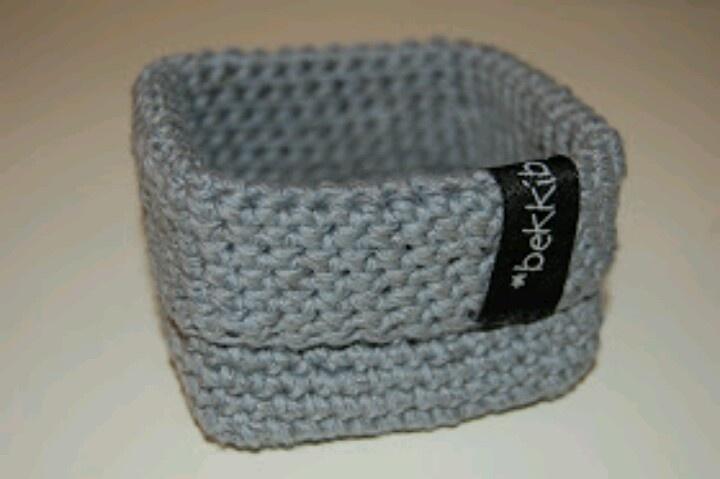 Crochet Rectangle Basket Pattern Free : 1000+ bilder om Hekleoppskrifter p? norsk p? Pinterest