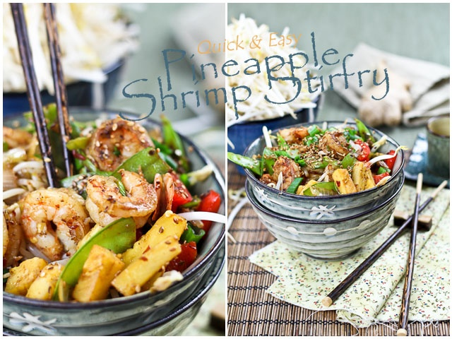 Quick and Easy Pineapple Shrimp Stirfry | Recipe