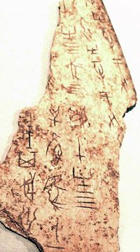 The oracle bone script is a well-developed writing system, attested from the late Shang Dynasty (1200–1050 BC). Only about 1,400 of the 2,500 known oracle bone script logographs can be identified with later Chinese characters and thus deciphered by paleographers.