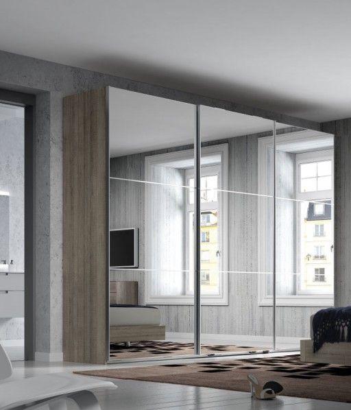Las 25 mejores ideas sobre puertas de armario con espejos for Espejos vestidores de pared