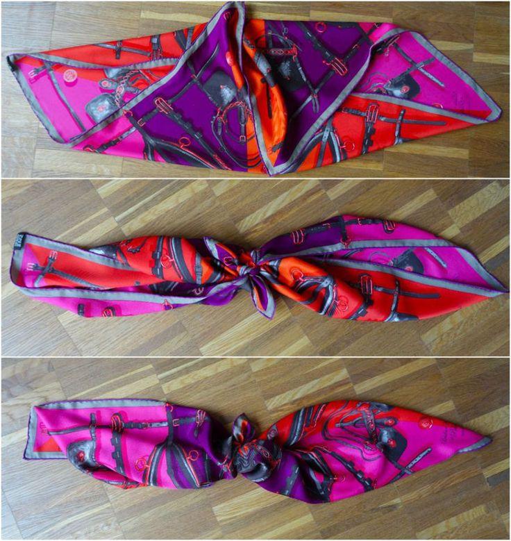 folding and knotting the scarf / das Tuch falten und knoten / http://happyface313.com/2016/04/13/my-magic-scarf/