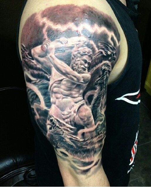 Tattoo Ideas God: Hercules Battling A Hydra By David Hamburg