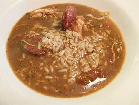 "Also a worthwhile ""snack"" from Mr. B's: chicken and andouille gumbo (gumbo ya-ya) #NOLA"