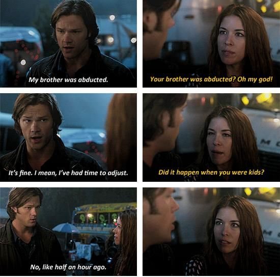 """""""My brother was abducted"""" - this episode has some really funny moments :)) #Supernatural"""