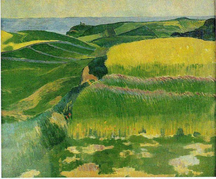 """Les Blés verts au Pouldu"""" de Paul Sérusier (1864-1927, France)"""