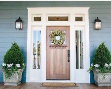 8ft knotty alder craftsman single lite entry door with side lites & transom