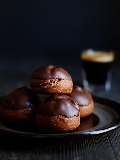 Chocolate Profiteroles with Chocolate Passionfruit Cream, via Flickr.