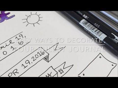 Hello everyone! Today I will be discussing simple ways to decorate your bullet journal. You don't have to be an artist to keep a pretty journal, so I'll be g...
