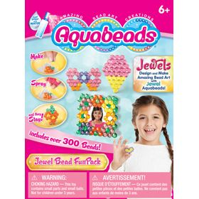 A great introduction to Jewel Aquabeads! This set includes over 300 beads, 4 mini templates, mini layout tray, mini bead case and mini spray bottle. Have fun using the enclosed templates, or create your own amazing bead art creations with jewel beads. Set also includes instructions with 5 additional templates.