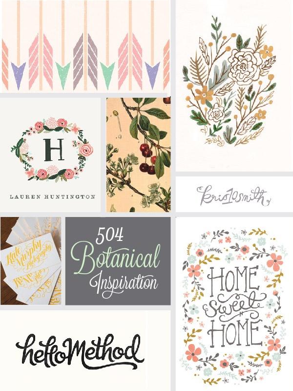botanical logo inspiration board