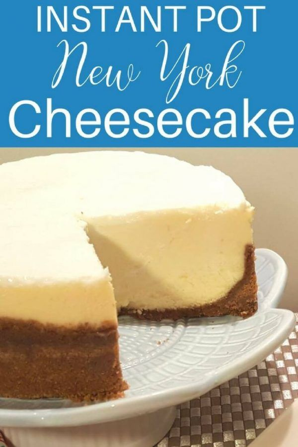 Instant Pot Pressure Cooker New York Cheesecake {Lindy's} via @thisoldgalcooks