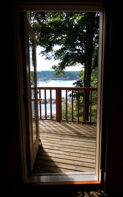 View out to the deck
