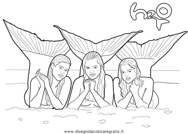 Line Drawings Online H2o Mermaid Coloring Pages New At Mako