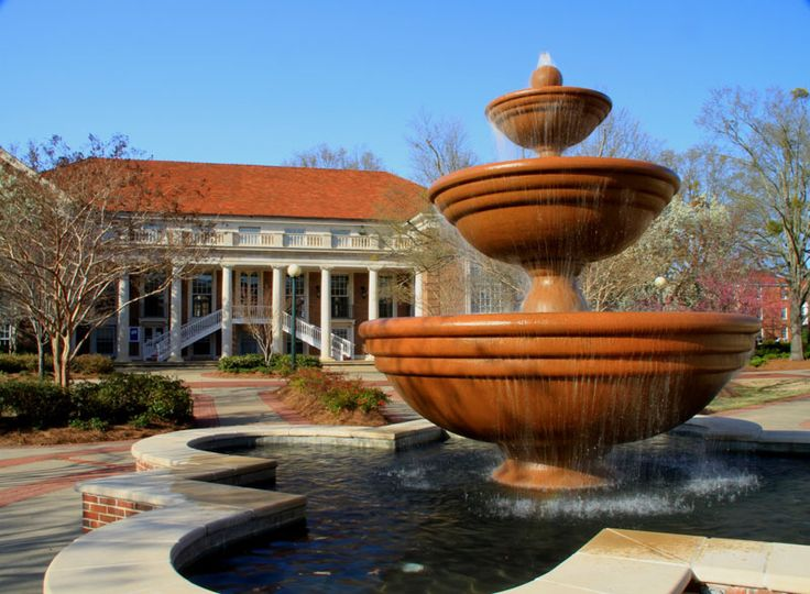 Phi Mu fountain, Ole Miss campus  http://www.olemiss.edu/tours/clsections-quad.html