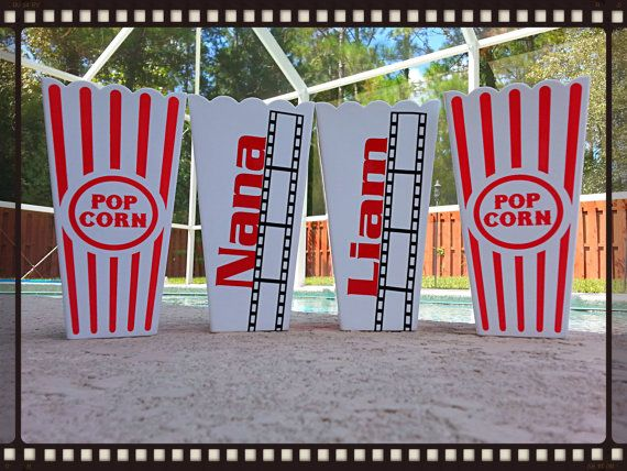 Custom personalized popcorn tubs / cups PERFECT for party favor .$3.50 each