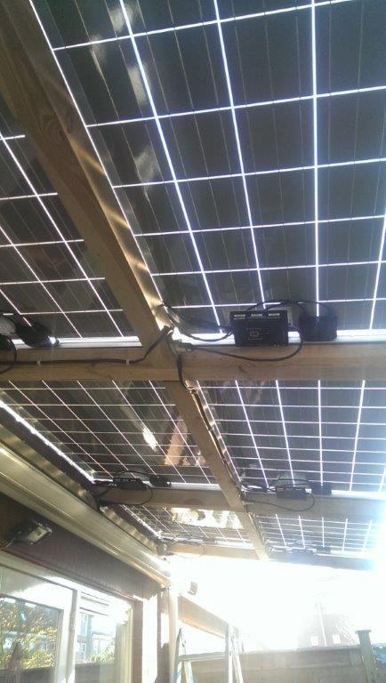 Een zonneveranda met transparante Bisol panelen!