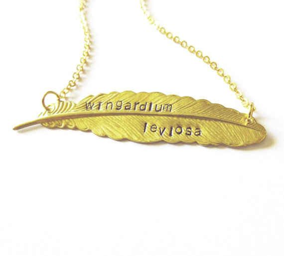 Wingardium Leviosa Feather Necklace | The 30 Most Perfect Gifts For Your Biggest Harry Potter Friends This Holiday Season