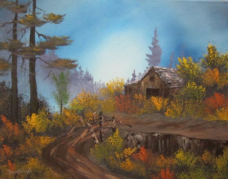 Autumm Barn Wet On Painting Tutorial