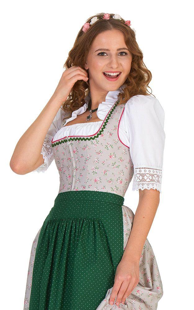 Chiemseer Dirndl & Tracht Online Shop-Blusendirndl Aidenbach, mit Schürze