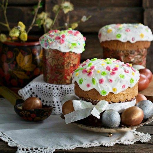 Рецепт - Пасхальный кулич с шафраном и марципаном