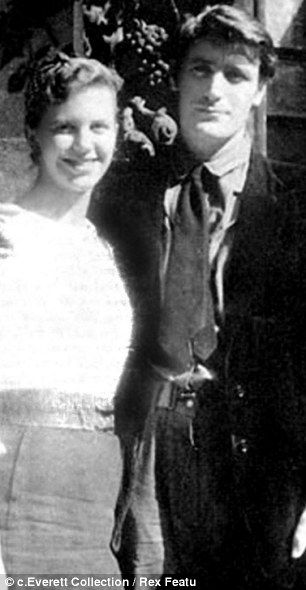Happier times: Sylvia Plath and Ted Hughes on their honeymoon in Paris