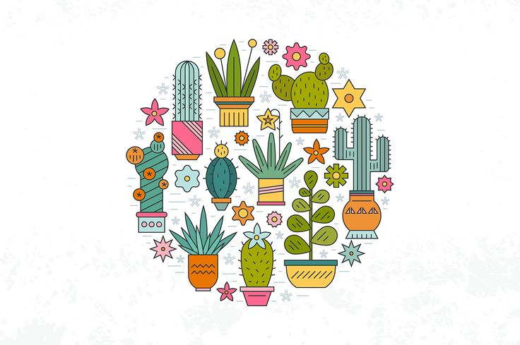 Collection of clipart and matching seamless patterns for invitations, cards and all sorts of design.