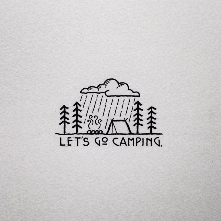 Best 25 Camping tattoo ideas on Pinterest Simple cute drawings