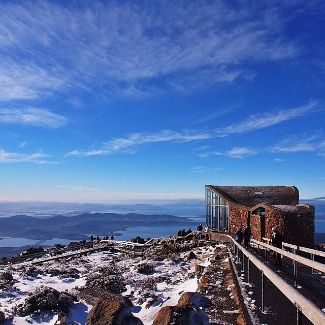 Looking out over #Hobart in @Tasmania on a beautiful and sunny winter's day with @loves_laughs. This shot was taken from the top of the majestic Mt.Wellington, where you can see panoramic views of Hobart, Bruny Island, South Arm and the Tasman Peninsula. The lookout is 1,270 metres above sea level, but just a 20 minute drive from the city centre. #Padgram