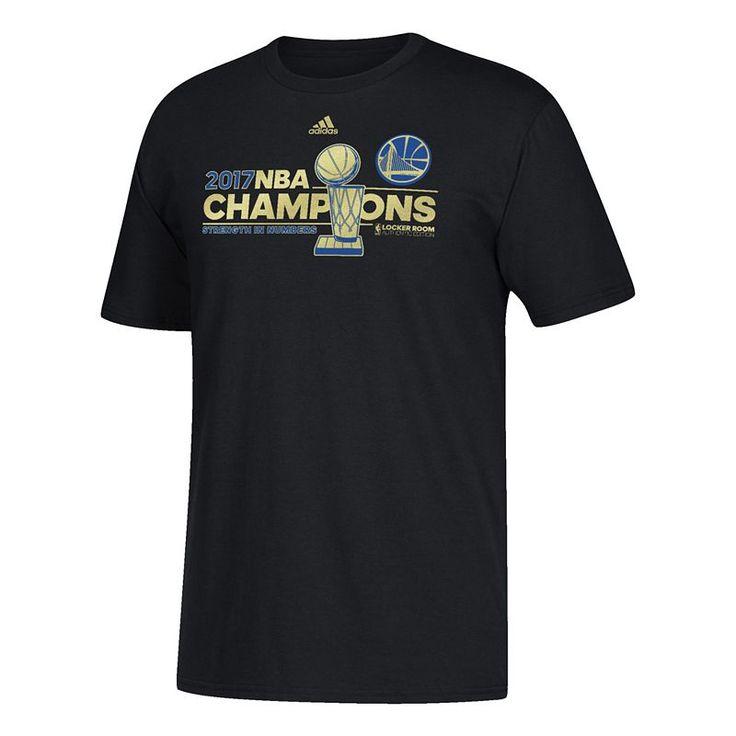 Boys 8-20 Adidas Golden State Warriors 2017 NBA Champions Locker Room Tee, Size: L(14/16), Black